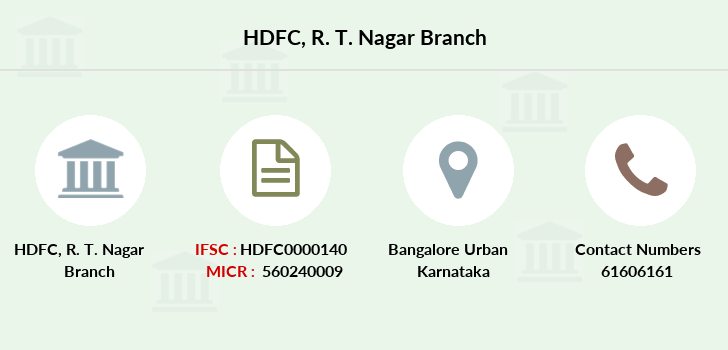 Hdfc-bank R-t-nagar branch