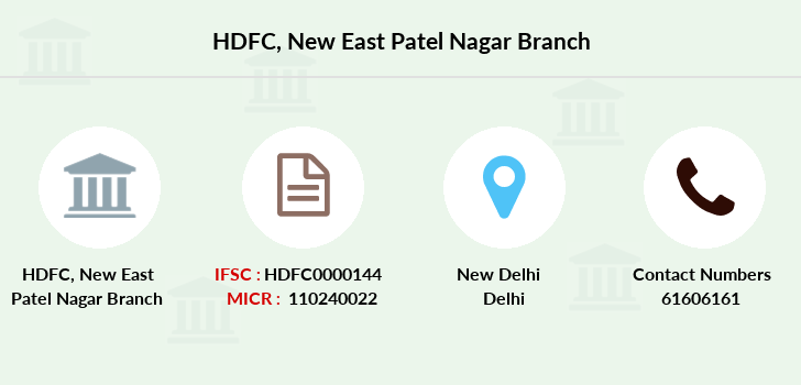 Hdfc-bank New-east-patel-nagar branch