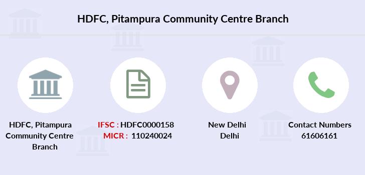 Hdfc-bank Pitampura-community-centre branch