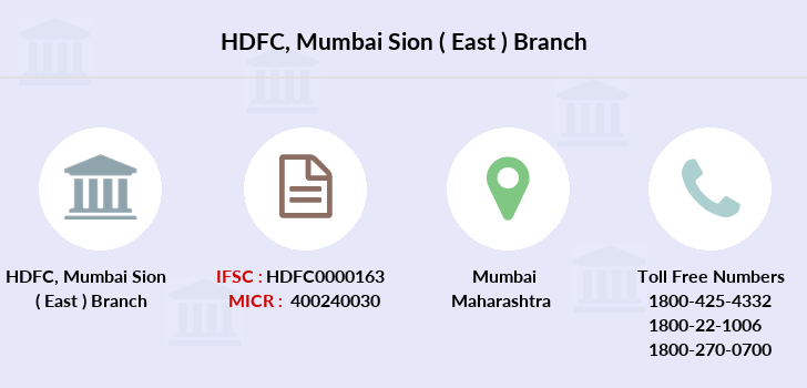 Hdfc-bank Mumbai-sion-east branch