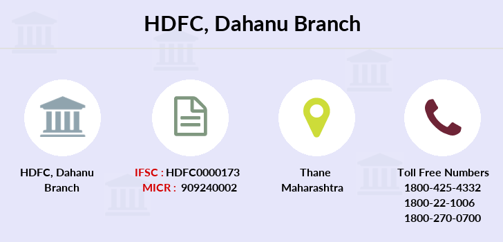 Hdfc-bank Dahanu branch