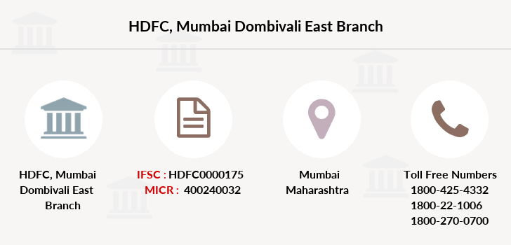 Hdfc-bank Mumbai-dombivali-east branch