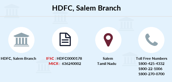 Hdfc-bank Salem branch