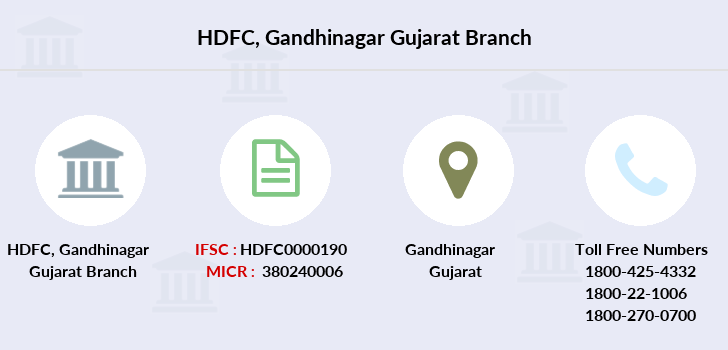 Hdfc-bank Gandhinagar-gujarat branch