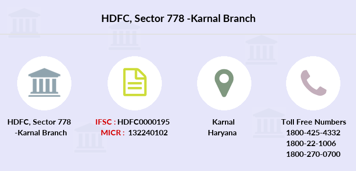 Hdfc-bank Sector-778-karnal branch