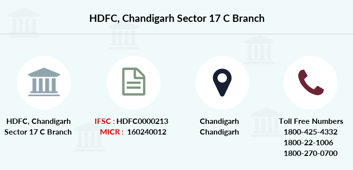 Hdfc-bank Chandigarh-sector-17-c branch