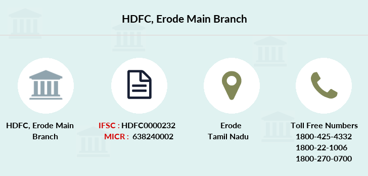 Hdfc-bank Erode-main branch