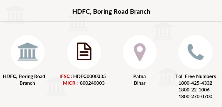 Hdfc-bank Boring-road branch