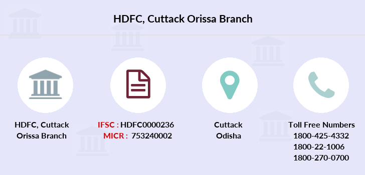 Hdfc-bank Cuttack-orissa branch