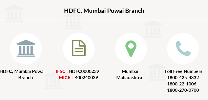 Hdfc-bank Mumbai-powai branch