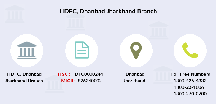 Hdfc-bank Dhanbad-jharkhand branch