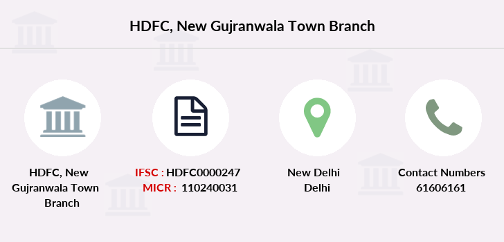 Hdfc-bank New-gujranwala-town branch