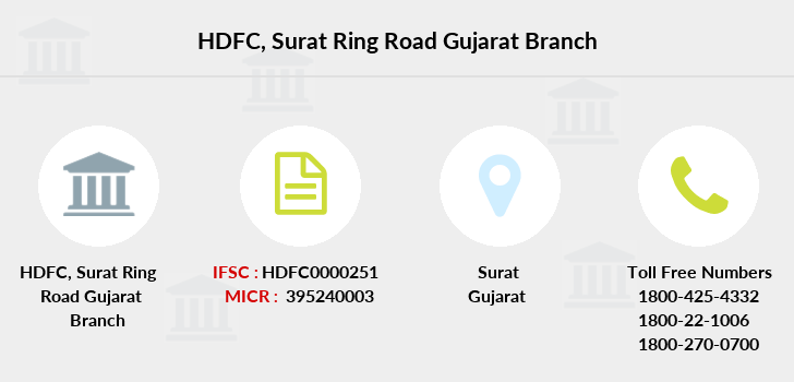 Hdfc-bank Surat-ring-road-gujarat branch