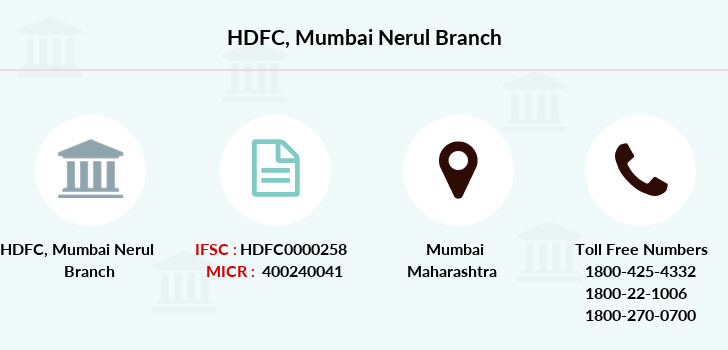 Hdfc-bank Mumbai-nerul branch