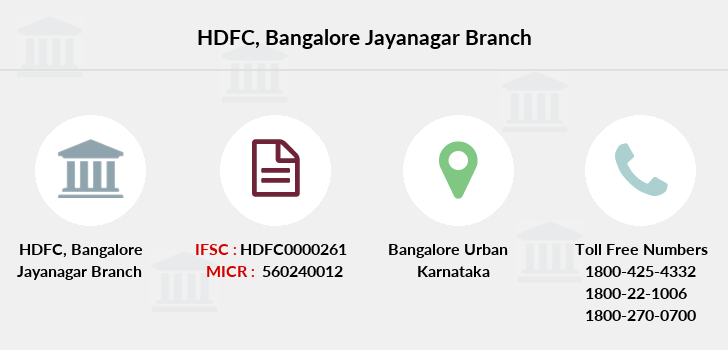 Hdfc-bank Bangalore-jayanagar branch