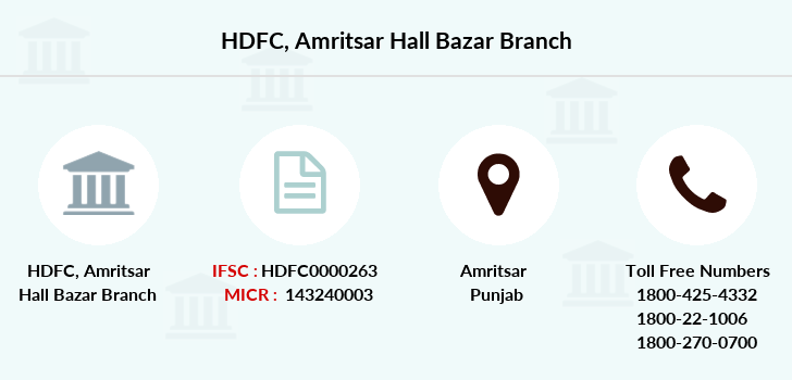Hdfc-bank Amritsar-hall-bazar branch