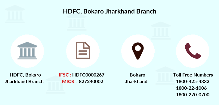 Hdfc-bank Bokaro-jharkhand branch