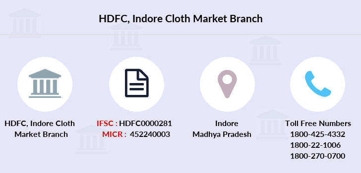 Hdfc-bank Indore-cloth-market branch