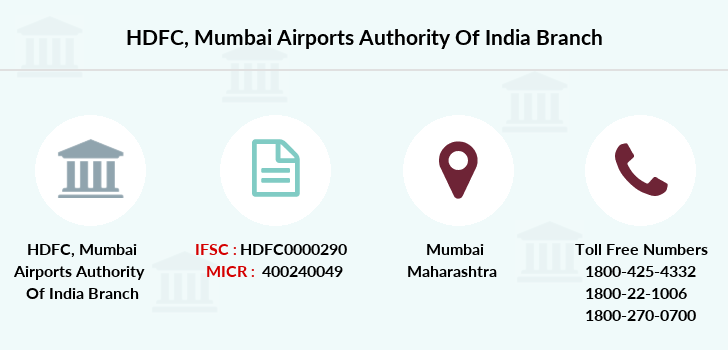 Hdfc-bank Mumbai-airports-authority-of-india branch