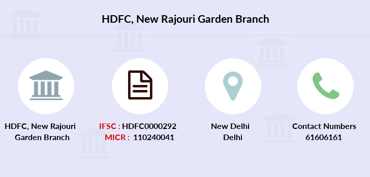 Hdfc-bank New-rajouri-garden branch