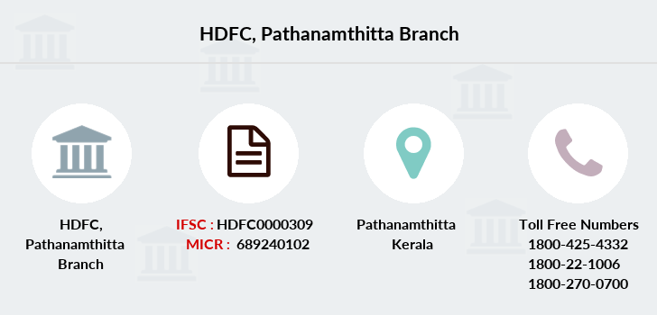 Hdfc-bank Pathanamthitta branch