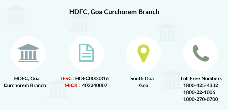 Hdfc-bank Goa-curchorem branch