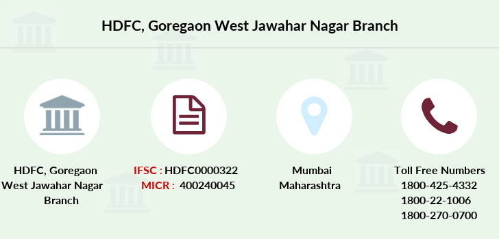Hdfc-bank Goregaon-west-jawahar-nagar branch
