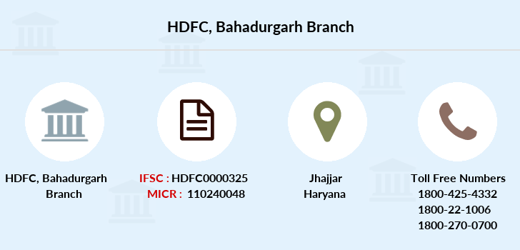 Hdfc-bank Bahadurgarh branch