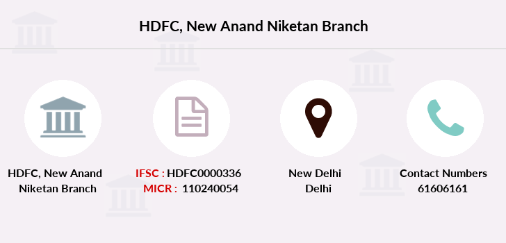 Hdfc-bank New-anand-niketan branch
