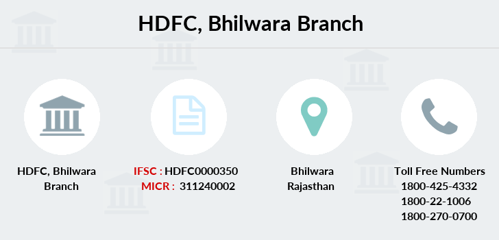 Hdfc-bank Bhilwara branch