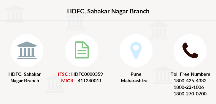 Hdfc-bank Sahakar-nagar branch