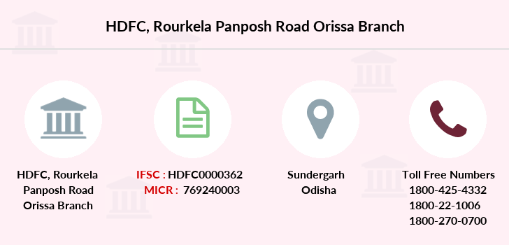 Hdfc-bank Rourkela-panposh-road-orissa branch
