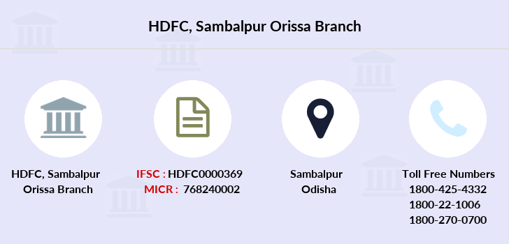 Hdfc-bank Sambalpur-orissa branch