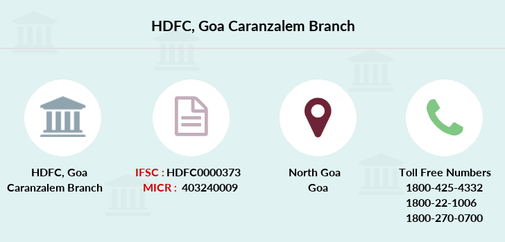 Hdfc-bank Goa-caranzalem branch