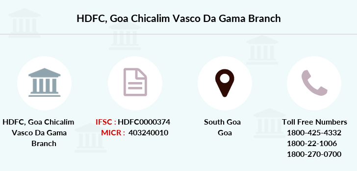 Hdfc-bank Goa-chicalim-vasco-da-gama branch