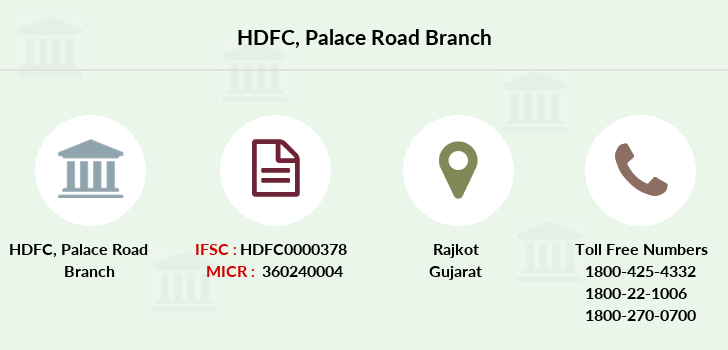 Hdfc-bank Palace-road branch