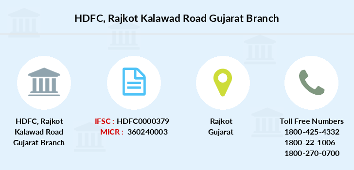 Hdfc-bank Rajkot-kalawad-road-gujarat branch