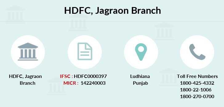 Hdfc-bank Jagraon branch