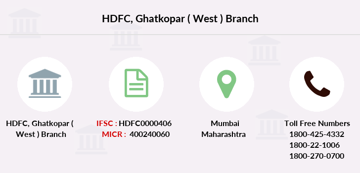 Hdfc-bank Ghatkopar-west branch