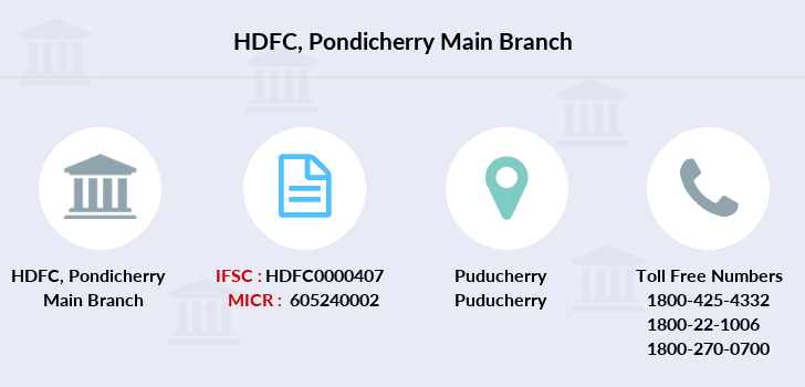 Hdfc-bank Pondicherry-main branch