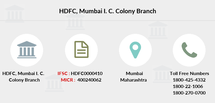 Hdfc-bank Mumbai-i-c-colony branch