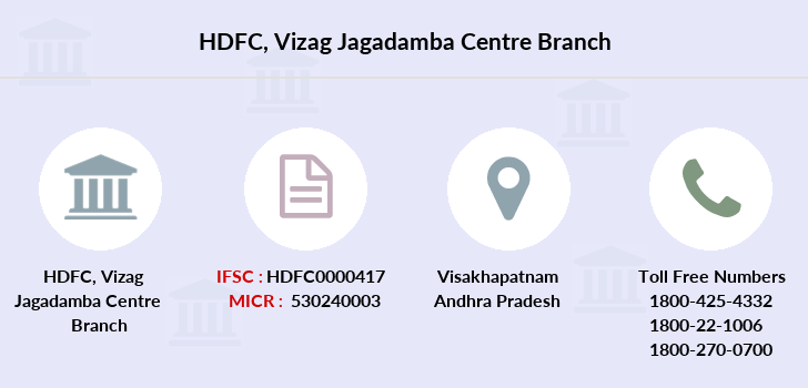 Hdfc-bank Vizag-jagadamba-centre branch