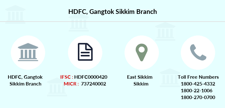 Hdfc-bank Gangtok-sikkim branch