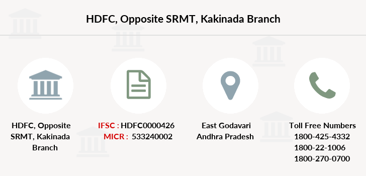 Hdfc-bank Opposite-srmt-kakinada branch