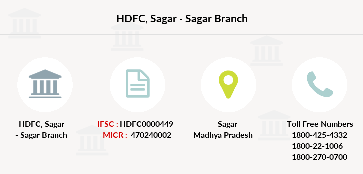 Hdfc-bank Sagar-sagar branch