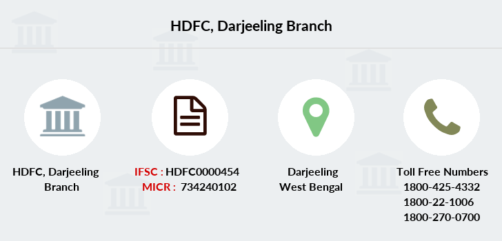 Hdfc-bank Darjeeling branch