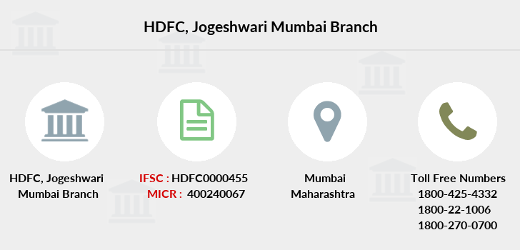 Hdfc-bank Jogeshwari-mumbai branch