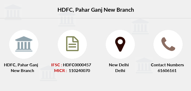 Hdfc-bank Pahar-ganj-new branch