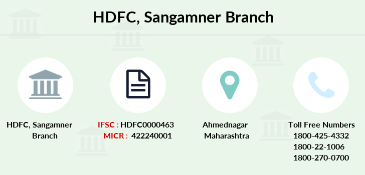 Hdfc-bank Sangamner branch