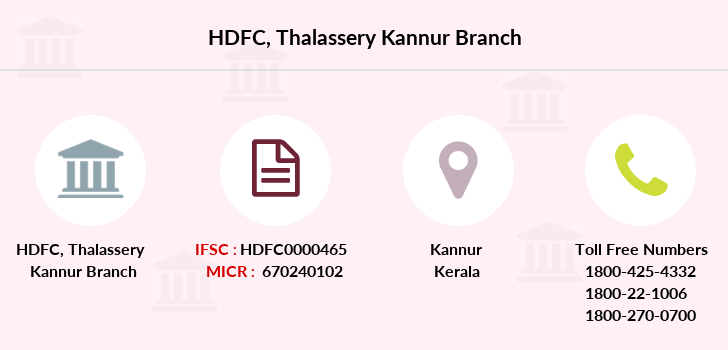 Hdfc-bank Thalassery-kannur branch